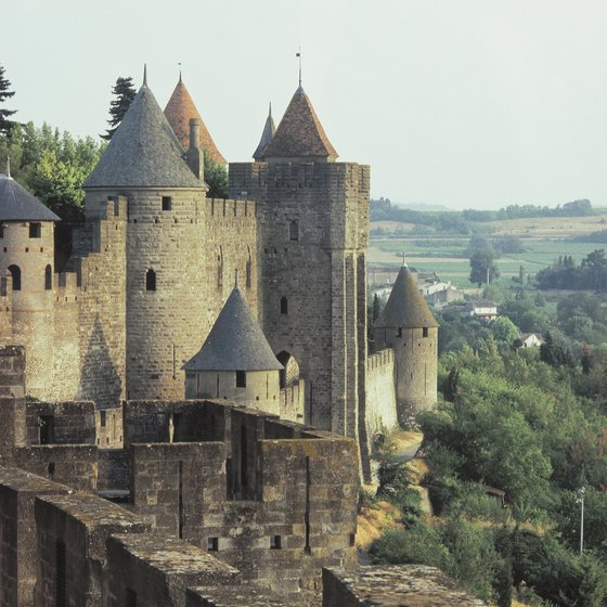 The castle in Carcassone is a possible stop in a boat tour along the Canal du Midi.