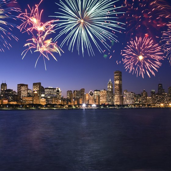Fireworks light up New Year's Eve in Chicago.