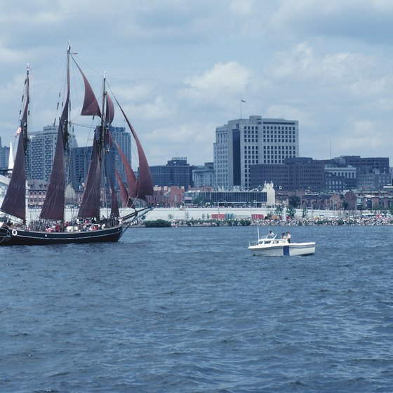 Philadelphia's Penn's Landing is a tourist attraction and the dock of the Spirit of Philadelphia.