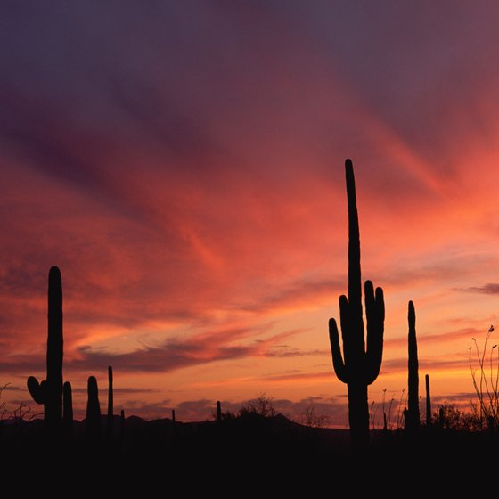 Estrella Mountain Ranch lies in the desert southwest of Phoenix.