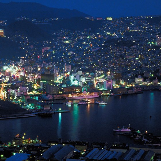 Nagasaki Bay from above.