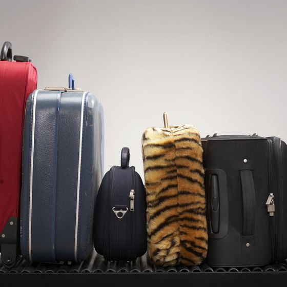 Baggage limits vary depending on whether they're carried on or checked.