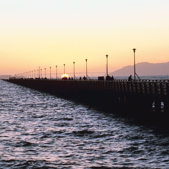 Berkeley Pier stretches 3,000 feet into San Francisco Bay.