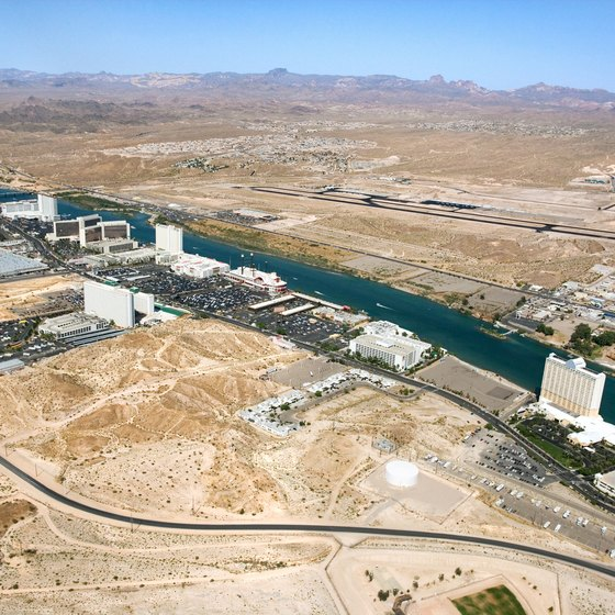 Bullhead City stretches along the shores of the Colorado River.