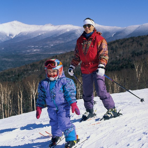 Bretton Woods in White Mountain National Forest offers skiing.