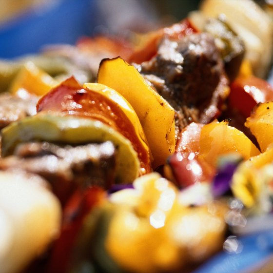 Enjoy a Middle Eastern meal of shish kabobs along Nashville's Thompson Lane.
