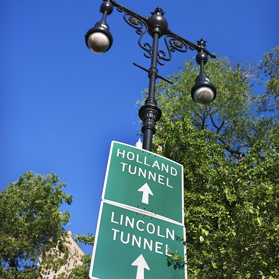 Take the Lincoln Tunnel to midtown Manhattan to start your walking tour.