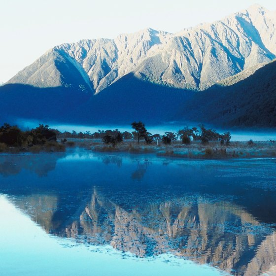 The inland waters of New Zealand feature trout fishing.