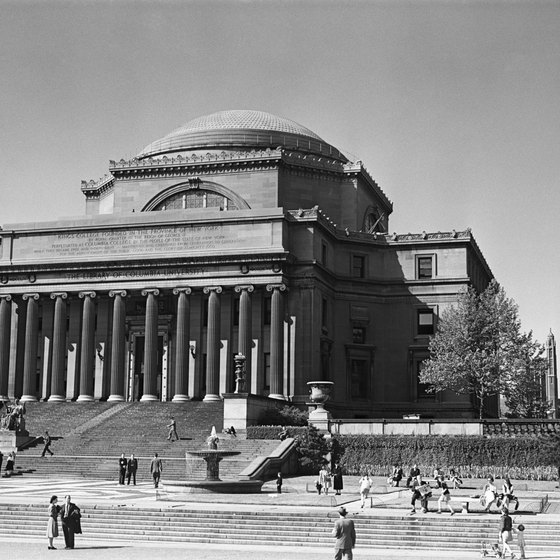 Columbia University is just blocks from the Hudson River.