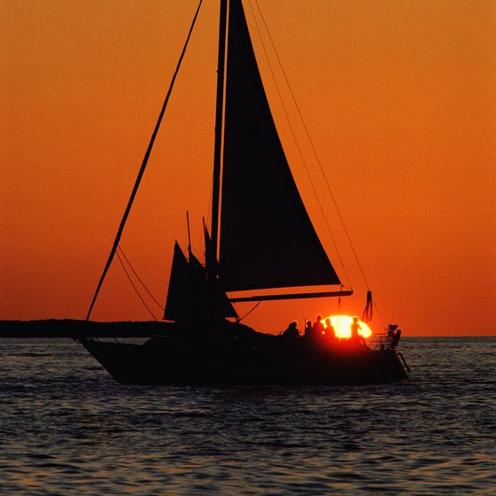 Sailboat tours at dusk allow guests to experience the island's famous sunsets from the water.