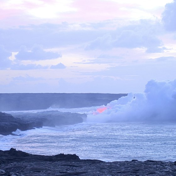 On the Big Island, you can watch Mt. Kilauea's lava meet the ocean.
