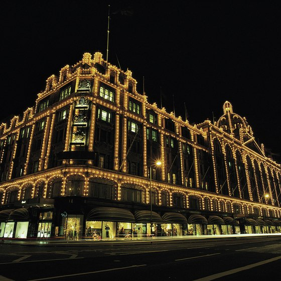 Harrod's, the world-famous department store, is located in Knightsbridge.