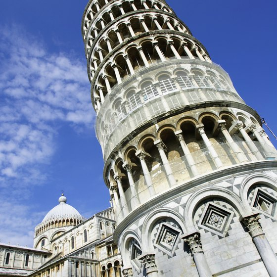 Admire the Leaning Tour of Pisa on a car tour of Italy.