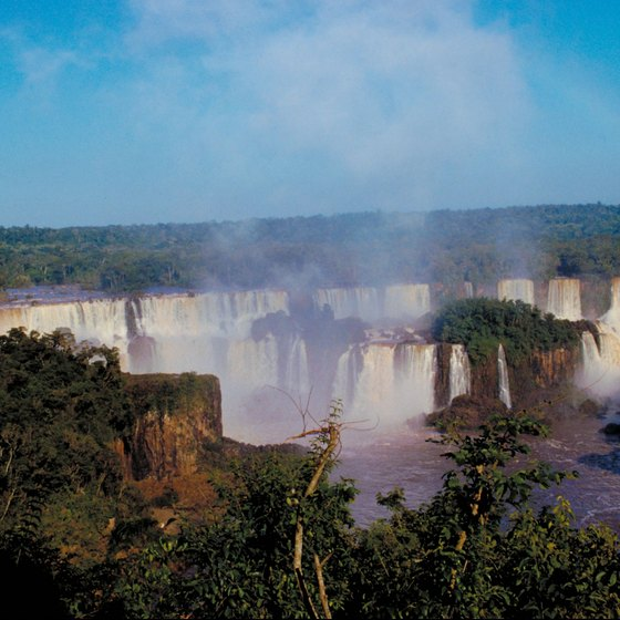 Iguacu Falls number among Brazil's many year-round attractions.