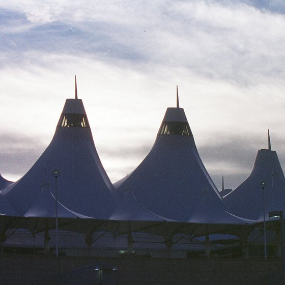 Aurora lies not far from the mountain-like silhouette of Denver International Airport.