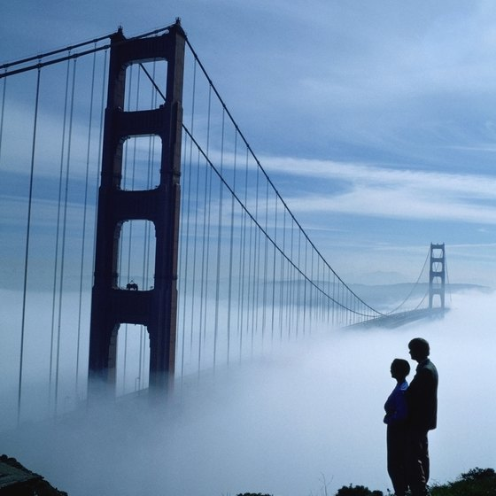 Northern California features some of California's top landmarks, like Golden Gate Bridge.