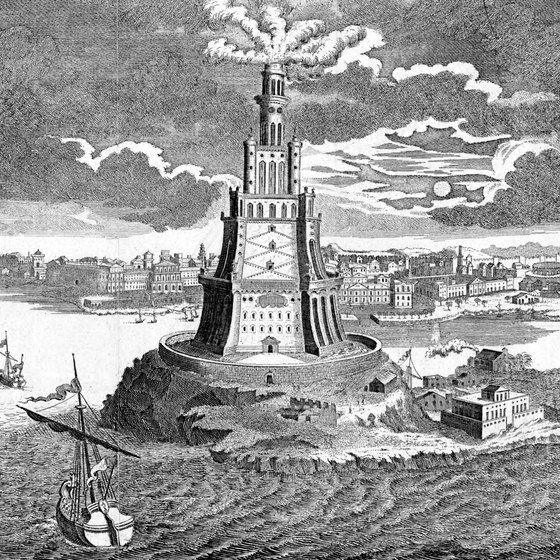 The Lighthouse of Alexandria, now an Egyptian dive site.