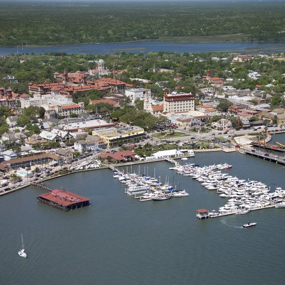 Arial view of Mantanzas River, St. Augustine, Florida