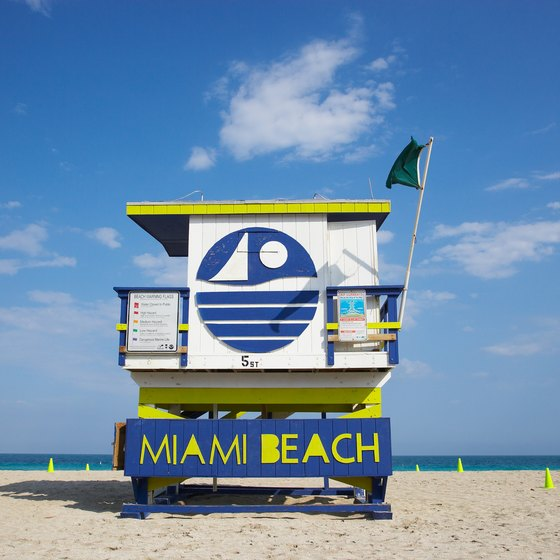 Miami Beach is known for its white sands along the Atlantic Ocean.