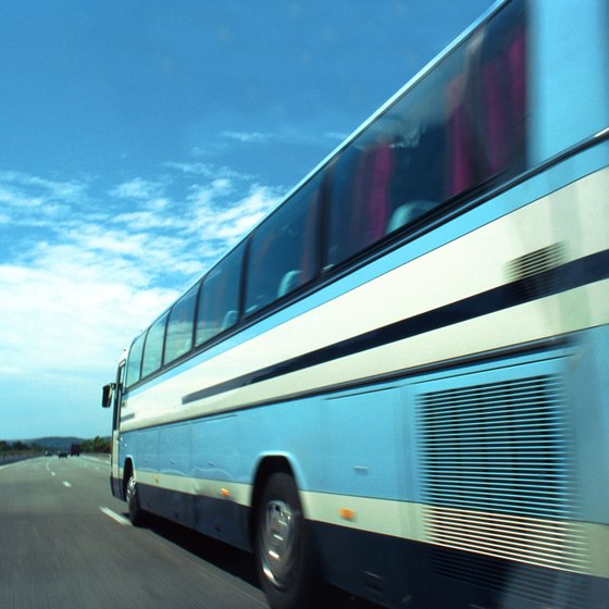 Bus trips between Washington, D.C., and New York take approximately 4 to 4 1/2 hours, depending on traffic.