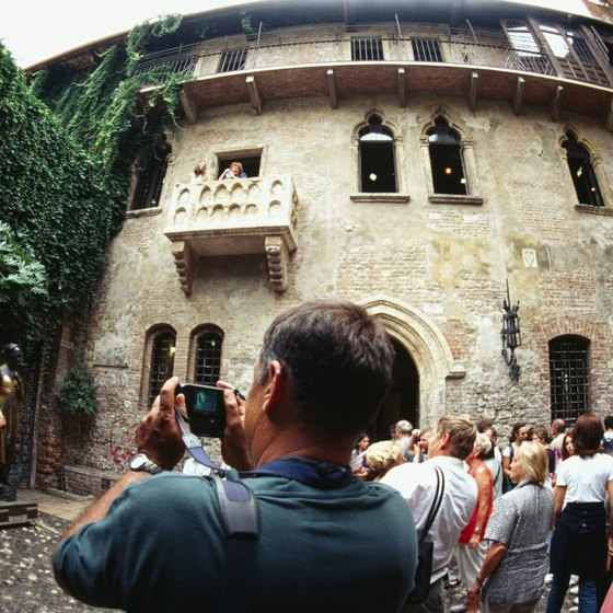 "Visitors flock to the ""Juliet Balcony"" in Verona."