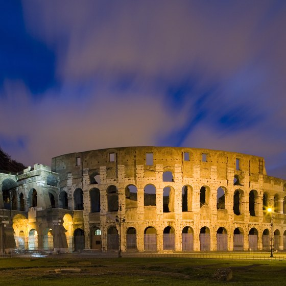 The Colosseum is one of Rome's most famous landmarks.