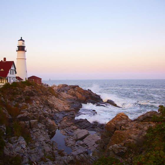 Maine is well-known for the lighthouses that dot the coastline.