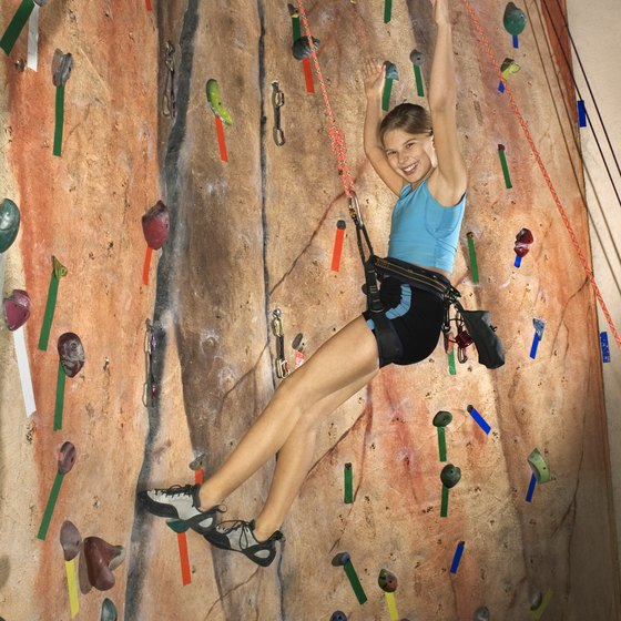 Newton's rock climbing spaces are geared toward youth and teenage climbers.