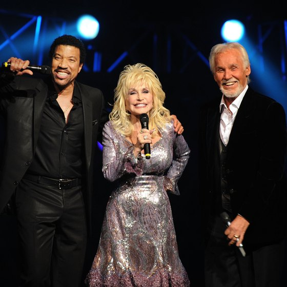 Lionel Richie, Dolly Parton and Kenny Rogers performed at the Kenny Rogers: The First 50 Years concert at Foxwoods in 2010.