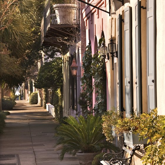 Rainbow Row in Charleston is just one of the city's lovely historic streets.