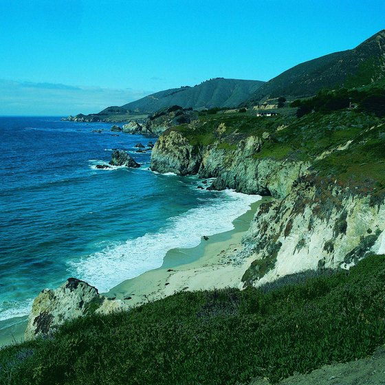 Shoreline along Big Sur, California.