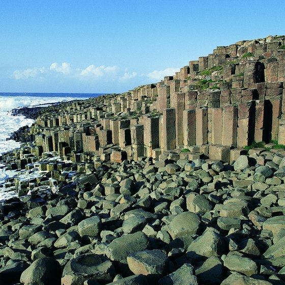 The Giant's Causeway resembles a road leading into the sea.