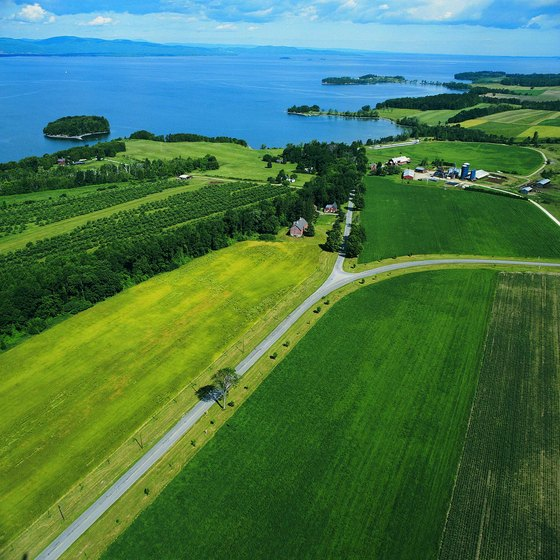 Lake Champlain is only a short distance from Shelburne camping.