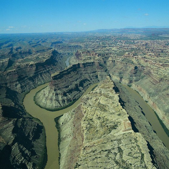 The Green River and Colorado River meet in Utah.