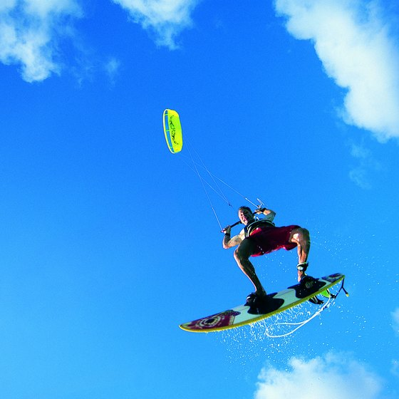 Kiteboarding is a sport mostly practiced among tourists in Jamaica.