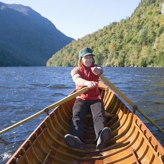 A boat is the only way to get to some Adirondack campsites.