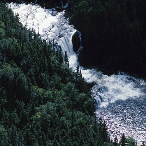 Visit dramatic Bald River Falls and swim in the river below.