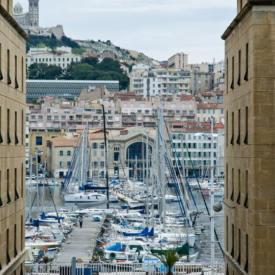 Harbor in downtown Marseille.