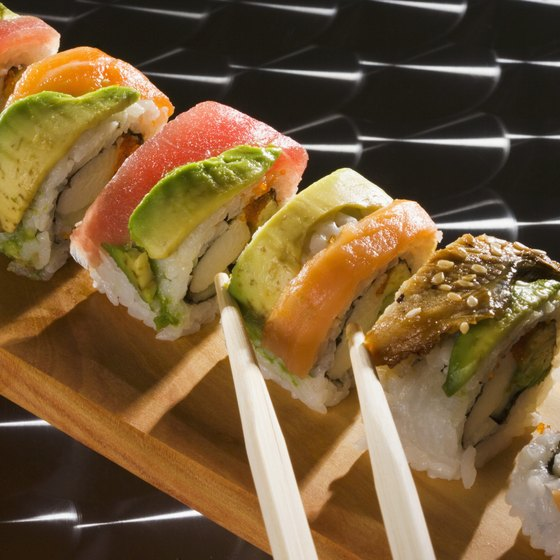 Enjoy a sushi feast at one of the Japanese restaurants across London.