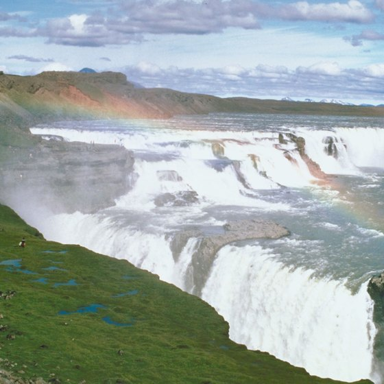 The Gulfoss waterfall is the most powerful waterfall in Europe.