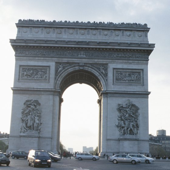 The Arc de Triomphe has been the site of many famous victory marches in Paris.
