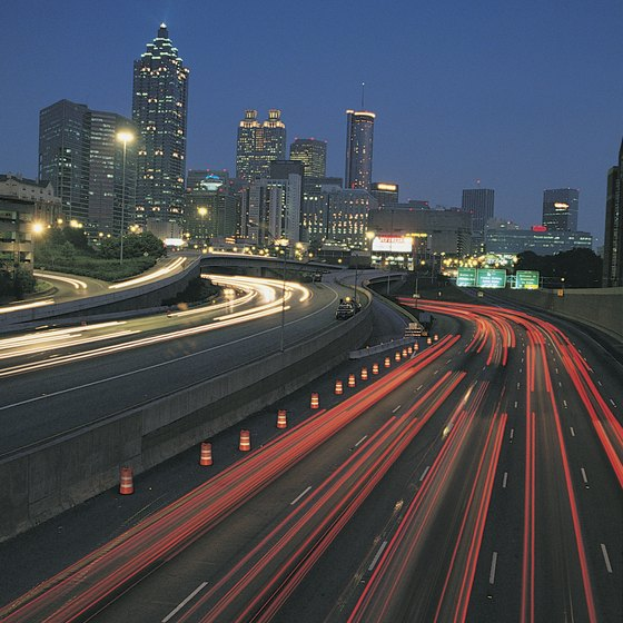 Traffic at night, Atlanta