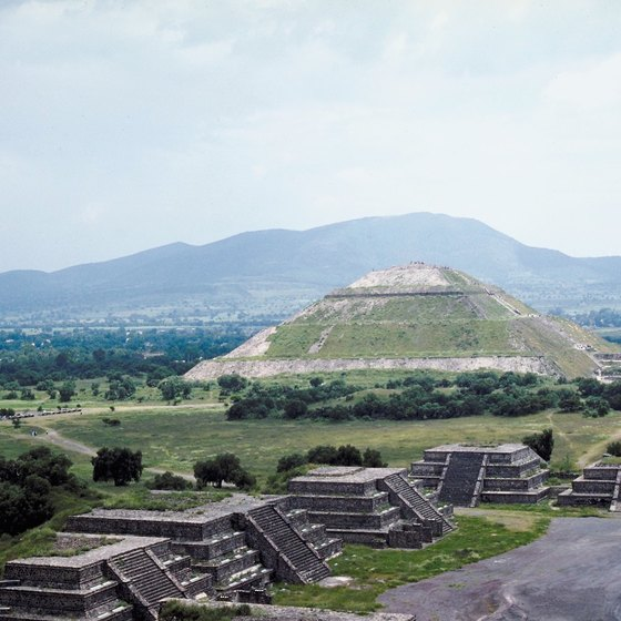The top of the Aztecs' Pyramid of the Sun provides sweeping views.
