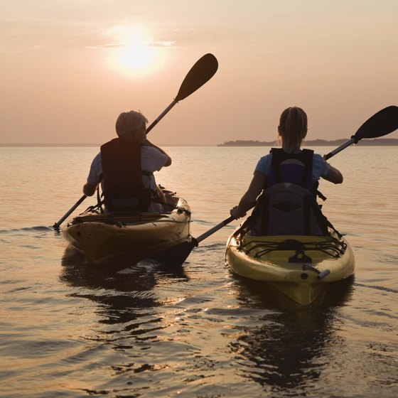 Kayaking is popular on Drummond Island.