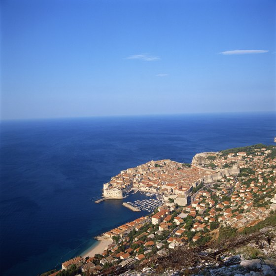 Dubrovnik is spectacularly located on Croatia's Dalmatian Coast.