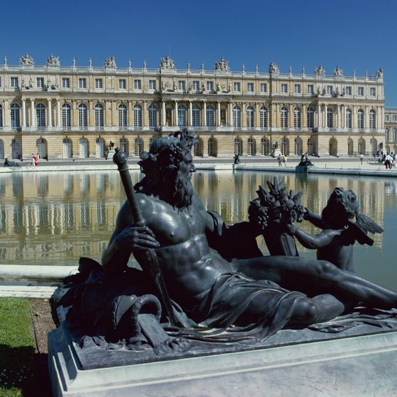The courtyard fountain provides a pleasant respite during a visit to the Louvre.