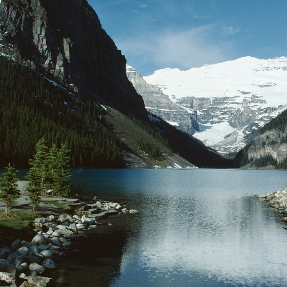 Lake Louise in Banff National Park offers cool swimming for visitors.