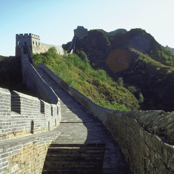 The Great Wall of China is actually a series of walls built over 2,000 years.