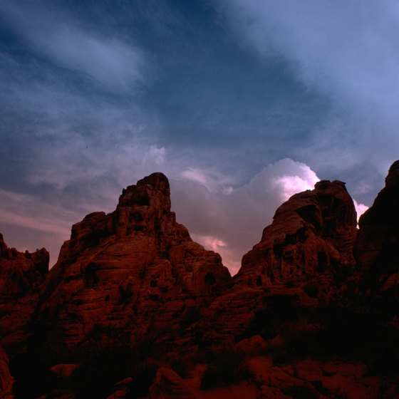 Red-color rock formations are a signature of Nevada's Valley of Fire.