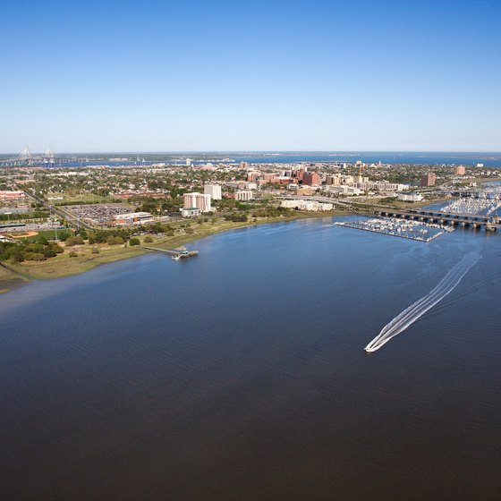 Charleston, South Carolina's geogaphy allows for both waterfront and beachfront hotel accommodations.